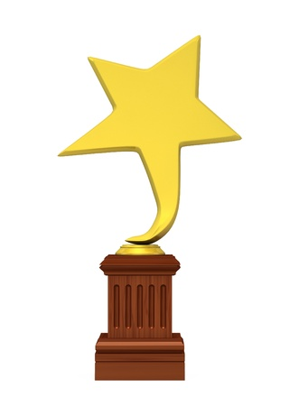 Golden star award isolated on the white background Stock Photo - 14571504