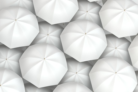 white umbrellas background Stock Photo - 14652620