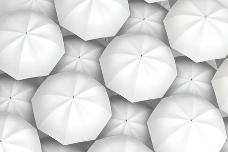 white umbrellas background