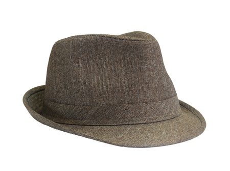 Brown hat on the white background  photo