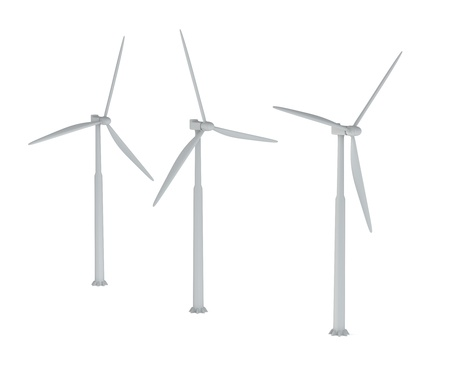 conservational: Windmills on a white background
