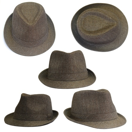 Set of brown hats  photo