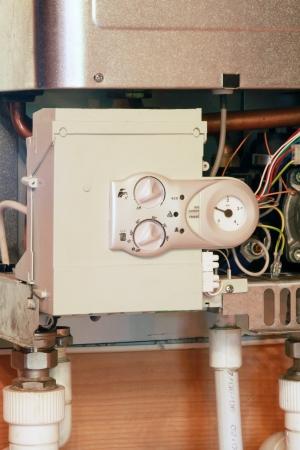 gas boiler: gas boiler under repair