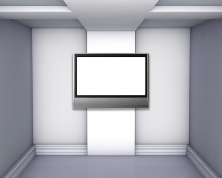 empty gallery with lcd tv photo