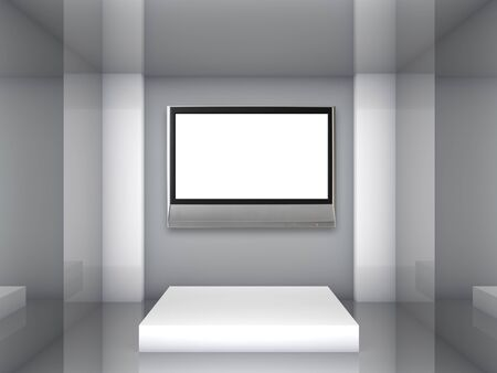 Empty lcd tv in the gallery Stock Photo - 14723026