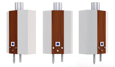 set of gas heaters on a white background Stock Photo - 14722992