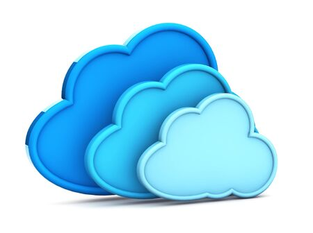 3d cloud computing icon on a white background  photo