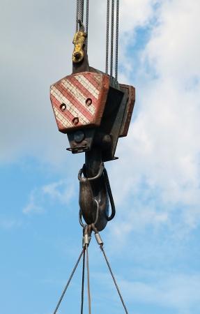 Crane Hook on a blue sky Stock Photo - 15101346