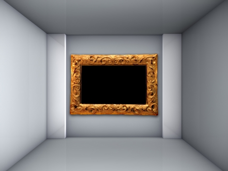 empty room with picture frame photo