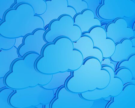 3d cloud computing icon background  photo