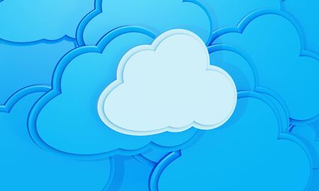 3d cloud computing icon background Stock Photo - 15101229