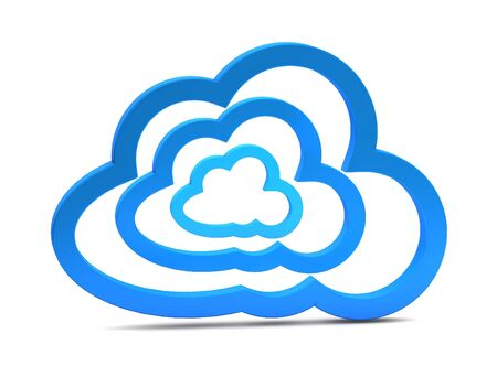 3d cloud computing icon on a white background  Stock Photo - 15476323