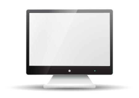 flat screen tv: Televisi�n de pantalla plana aislada en el fondo blanco