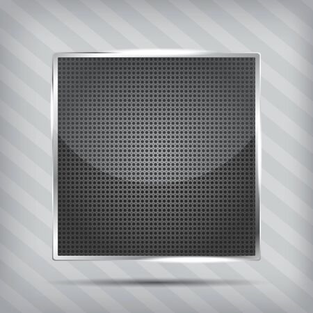 metallic pattern icon on the striped background Vector