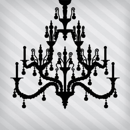 irradiate: silueta de la l�mpara de lujo en un despojado de fondo  plantilla de dise�o de la invitaci�n con la l�mpara