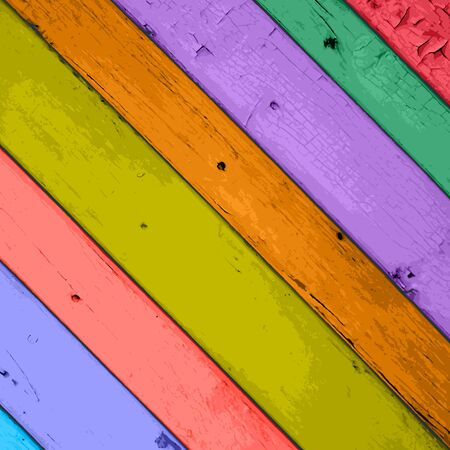 Colorful Vector Wooden Planks Background  Vector