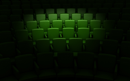 Empty cinema auditorium photo