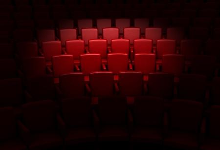 Empty theater auditorium or cinema