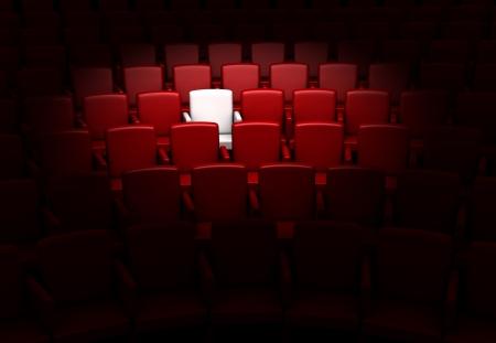 한 예약 된 좌석 강당