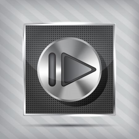 forward icon: metallic knob with forward icon on the striped background