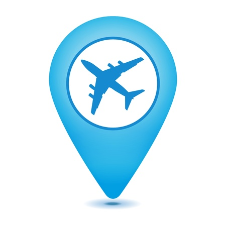 airport pointer icon on a white background