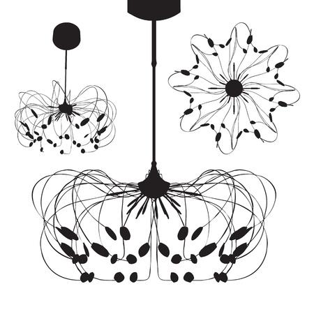 irradiate: Silhouette of luxury chandelier