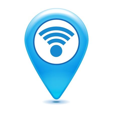 wifi pointer icon on a white background Illustration