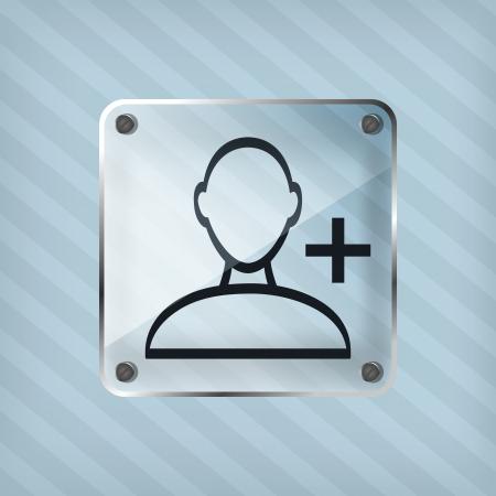 addendum: transparency add friend icon on the striped background Illustration