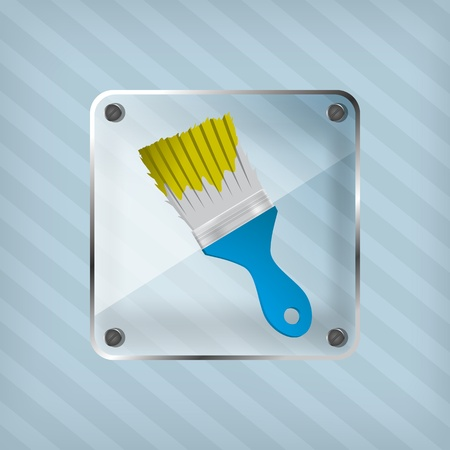streak plate: transparency icon with brush on a striped background