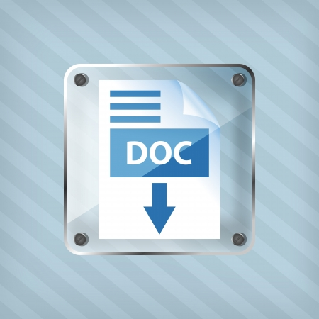 transparency doc download icon on a striped background