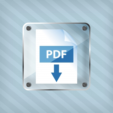 transparency pdf download icon on a striped background Vector