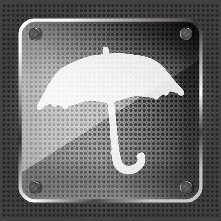 mettalic: glass forecast icon on a metallic background