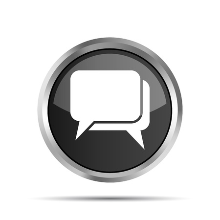 chat room: black dialog icon on a white background