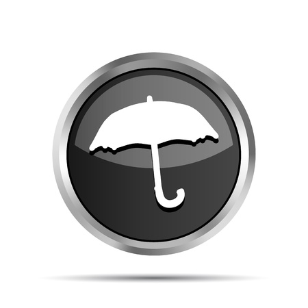 black forecast icon on a white background Vector