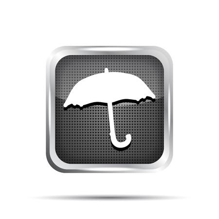 black umbrella icon on a white background Vector