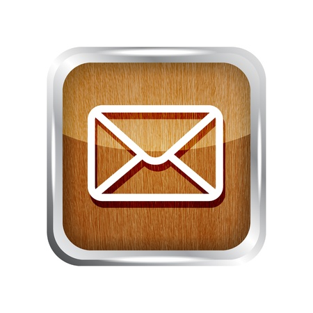 wooden mail icon isolated on white background Stock Vector - 19619681