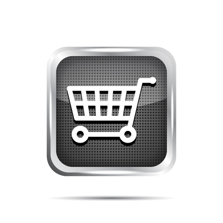 shopping cart icon on a white background Vector