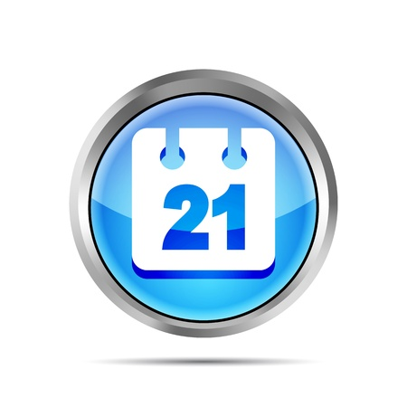 blue date icon on a white background Vector