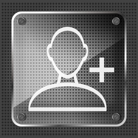 userpic: glass add friend icon on the striped background