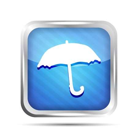 Blue striped forecast icon on a white background Stock Vector - 20071605
