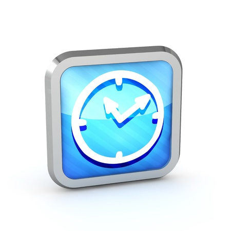 time account: blue striped watch icon on a white background