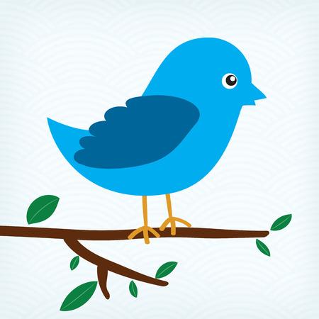 oiseau bleu assis sur une branche d'arbre