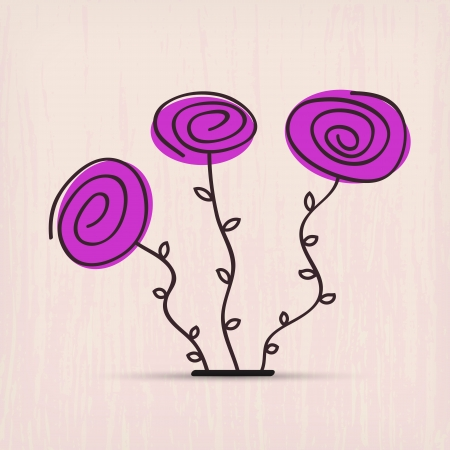 illustration of abstract spring flowers Vector