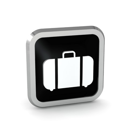 black baggage icon on a white background  photo