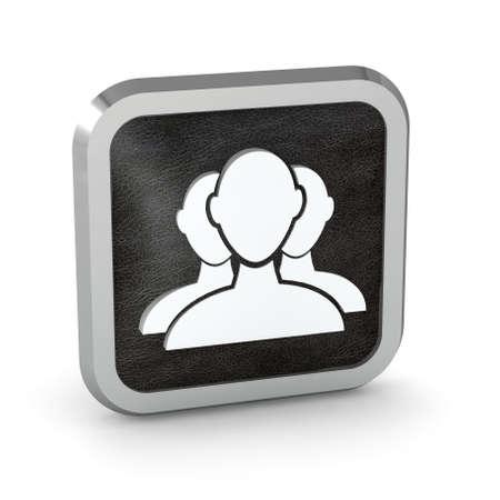 black user group web icon on a white background Stock Photo - 23124917