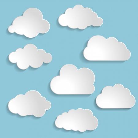 nubes caricatura: Ilustración del vector de la recogida de las nubes Vectores