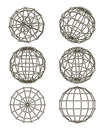 wire-frame elements in the form of sphere for graphic design Stock Vector - 24262384