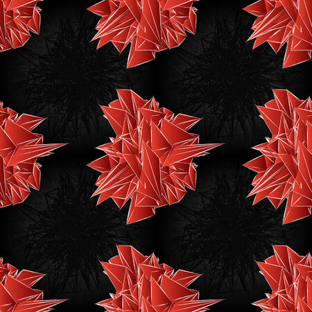 seamless abstract red modern triangular shapes on a black background Vector