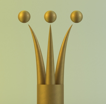 3d golden crown Stock Photo