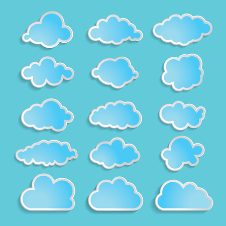 blue clouds: illustration of blue clouds collection